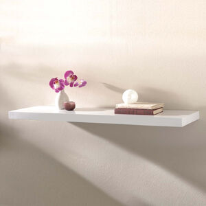 Capri White Floating Wall Shelf Set 120cm