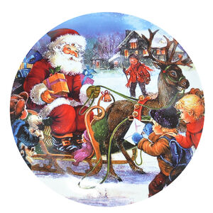 Santa Comes to the Village Cookie Plate