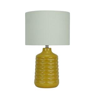 Wave Ceramic Table Lamp - Mustard