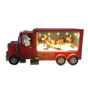 Animated Light Up Santa Truck