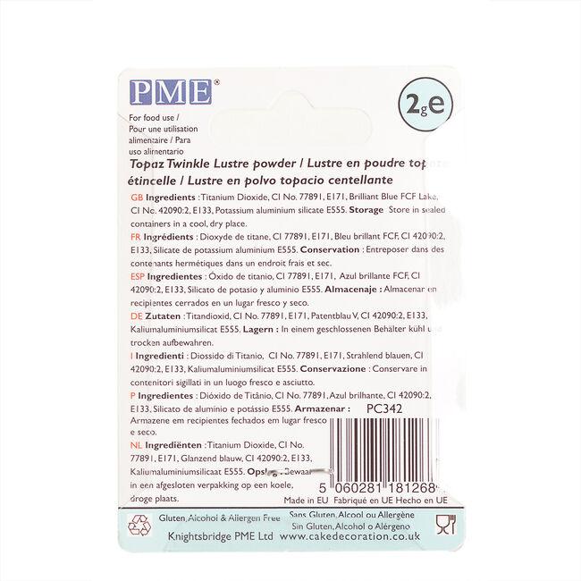 PME Topaz Twinkle Lustre Powder 2g