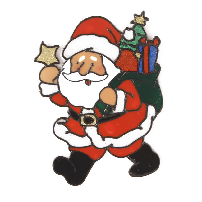 Merry Christmas Window Sticker Santa