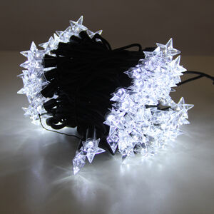 100 Bright White Connectable Star Lights