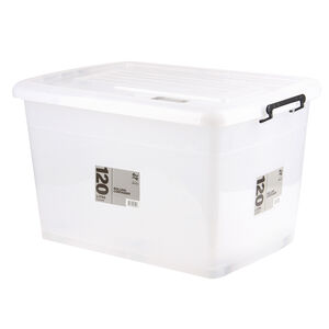 Rolling Storage Container 120L - Clear