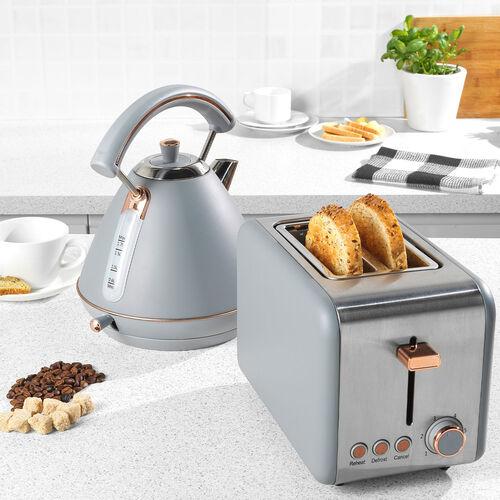 Salter Grey & Rose Gold 2 Slice Toaster