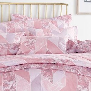 Marbled Geo Blush Cushion 30cm x 50cm