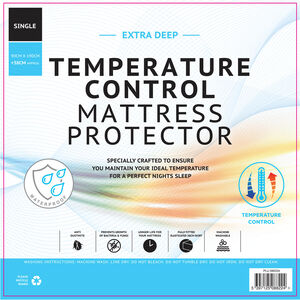 TEMP CONTROL WATERPROOF SINGLE Mattress Protector