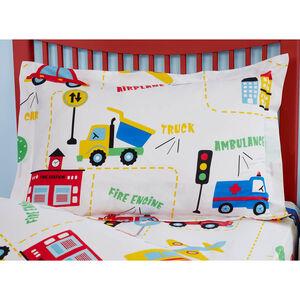 Street Map Oxford Pillowcase Pair - White