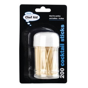 Chef Aid 200 Bamboo Toothpicks