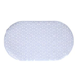 Triangles Bath Mat - White