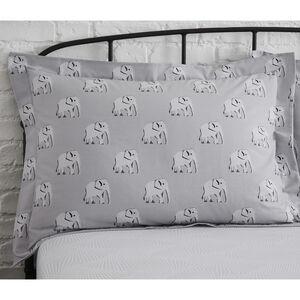 Nelly Oxford Pillowcase Pair - Grey