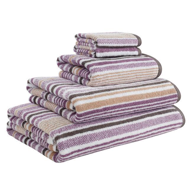 500GSM MCMARTIN STRIPE GREY/NAT Hand Towel
