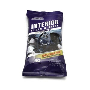 Car Interior Clean & Shine Wipes 40 Pack