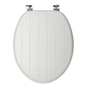 Sabichi Grooved Toilet Seat White