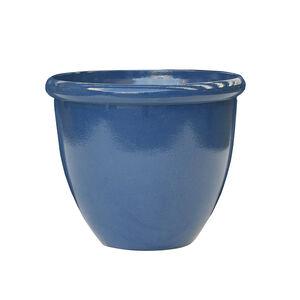 Large Blue Glaze Lite Plant Pot