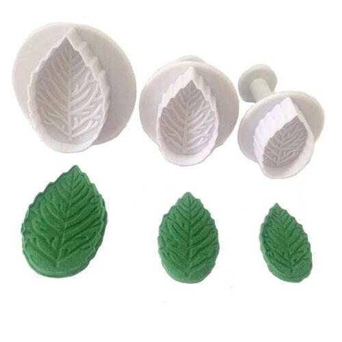 Mason Cash Rose Leaf Plunger Cutters 3Pc