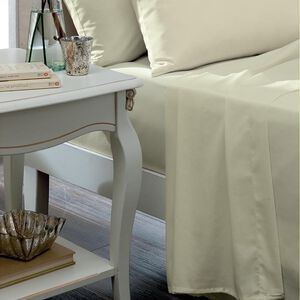 SINGLE FLAT SHEET Luxury Percale Cream