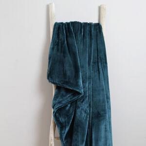Ruane Plush Velvet Teal Throw 150 x 200cm