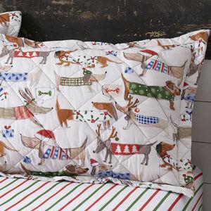 Festive Dogs Pillowshams