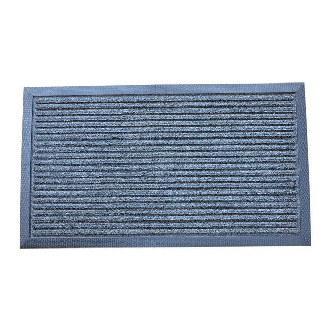 Esteem Stripe Door Mat 60x90cm - Charcoal