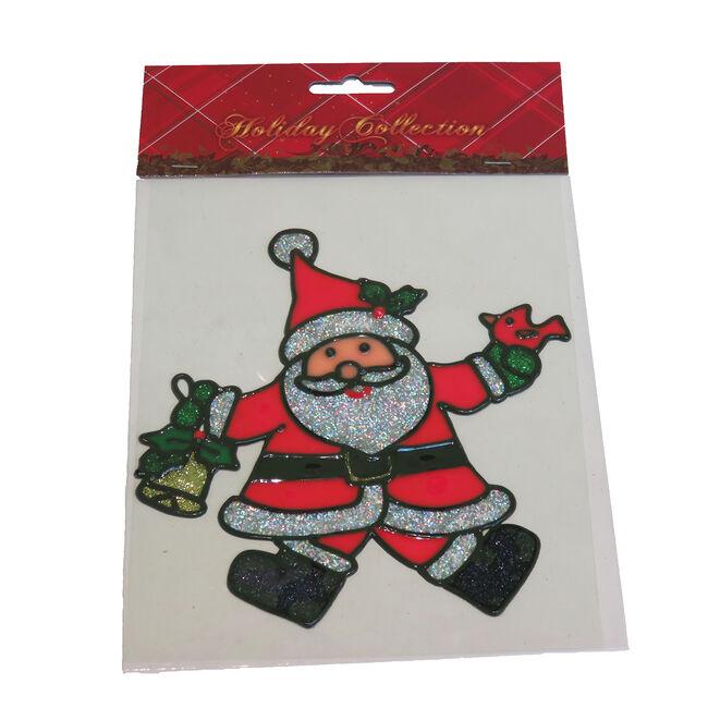 Merry Christmas Glitter Santa Sticker