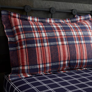 Brushed Cotton O'Dwyer Check Oxford Pillowcase Pair