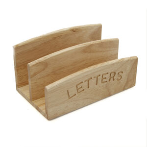Rubberwood Letter Rack