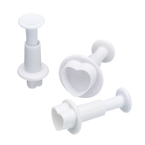 3Pc Heart Plunger Cutters