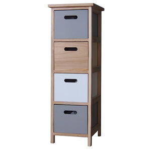 Kari 4 Drawer Charcoal/White Unit