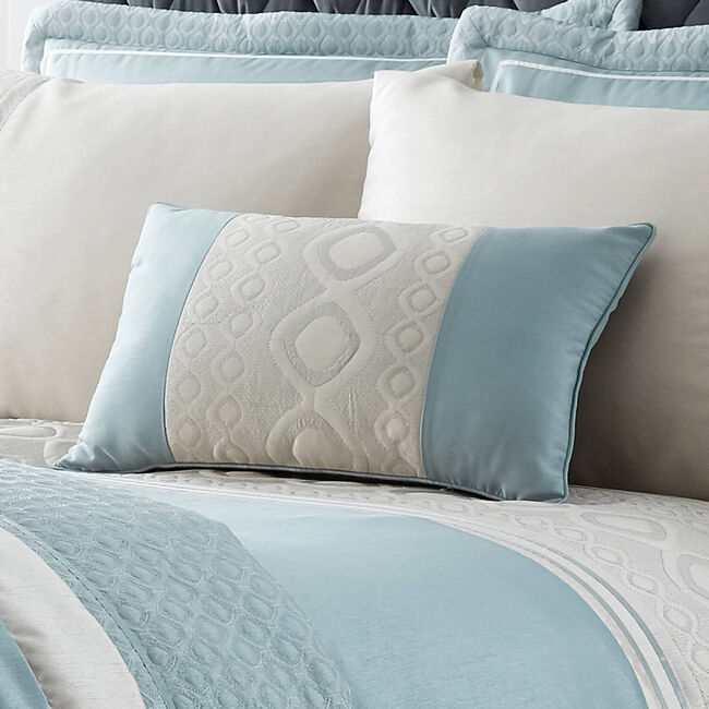 Luxury Geo Duck Egg Cushion 30x50cm