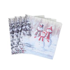 Snow Family Napkins 20 Pack