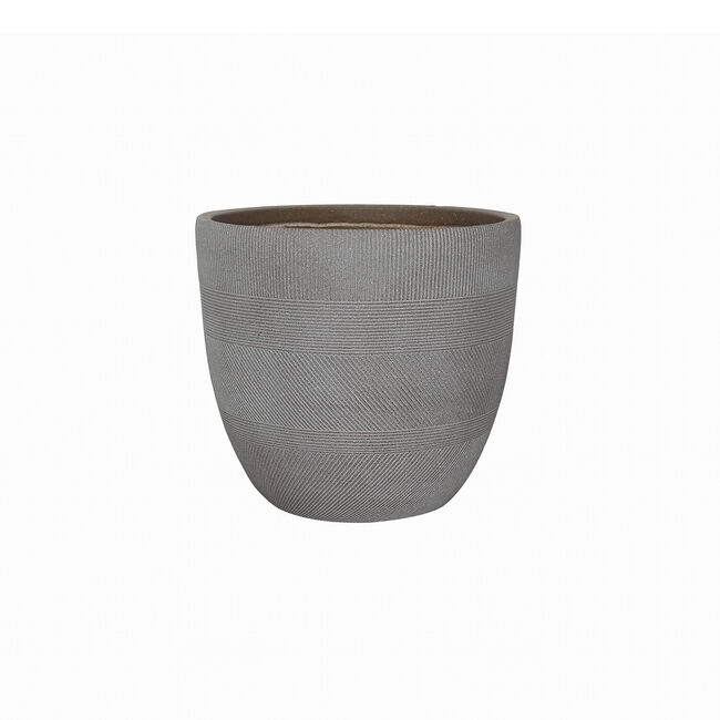 Small Inca Fibre Clay Pot - Taupe