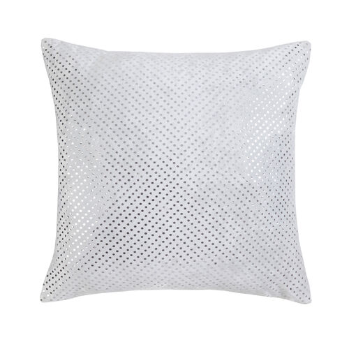 FOIL PRINT VELVET WHITE 45x45 Cushion
