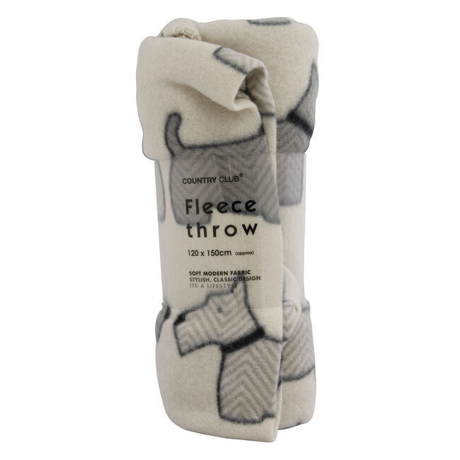 Scottie Grey Throw 120cm x 150cm