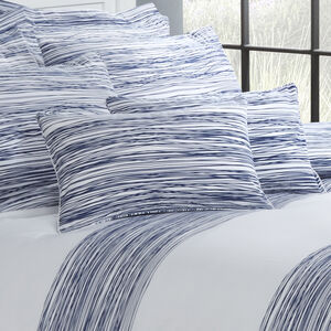 Tangled Stripe Navy Cushion