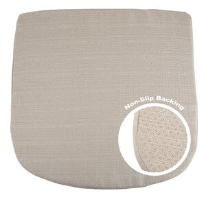 Non-Slip Woven Seat Pad - Biscuit