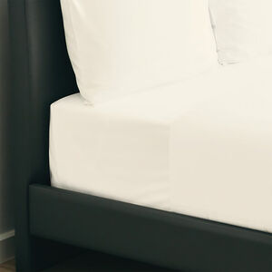 SINGLE FITTED SHEET 350 Threadcount Cotton Cream