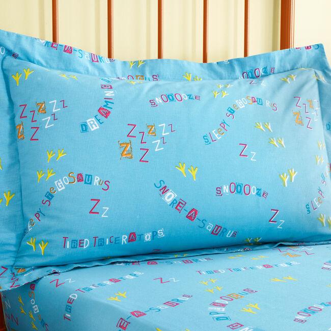 Sleepy Dinos Oxford Pillowcase Pair