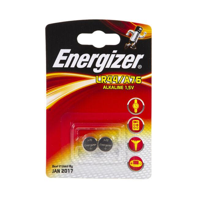 Energizer LR44/A76 Batteries 2pk