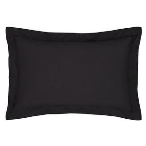 Luxury Percale Black Oxford Pillowcase Pair