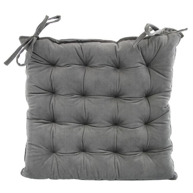 Naomi Kitchen Seat Pad - Charcoal
