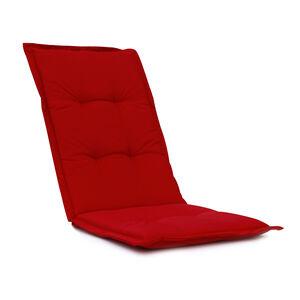 High Back Chair Cushion Red 120x48x4cm