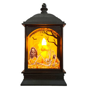 Halloween Graveyard Scene Lantern LED Candle -13cm