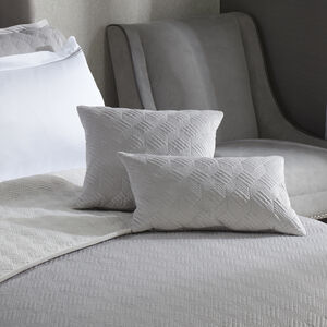 Quilted Hotel Velvet Cushion 30 x 50cm - Grey