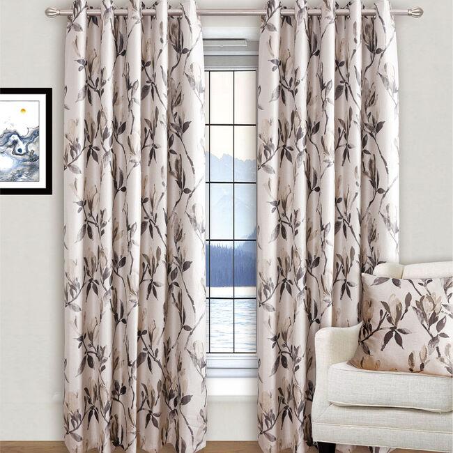 MODERN FLOWER NATURAL 66x54 Curtain