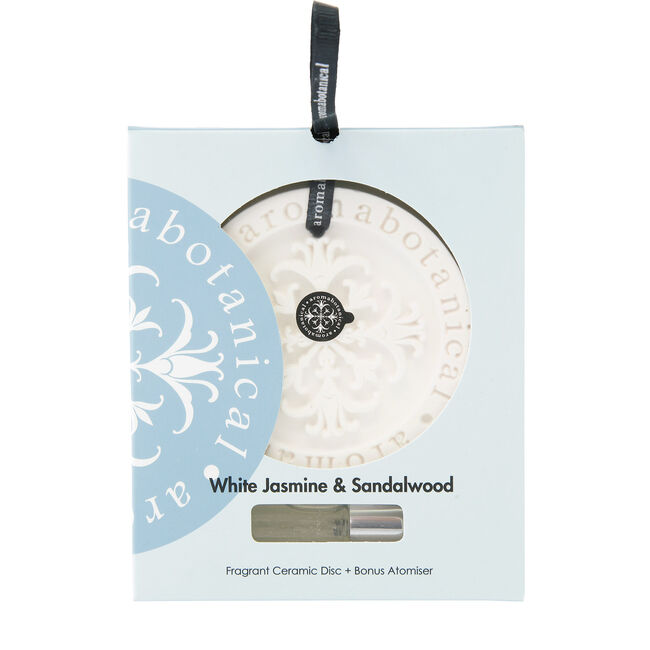 White Jasmine and Sandalwood Fragrant Ceramic Disc