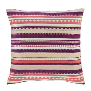 Laura Geo Purple Cushion 45cm x 45cm