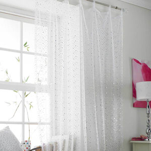 Popsical White Voile Curtain