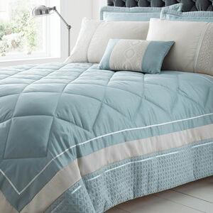 Luxury Geo Duck Egg Bedspread