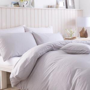 Textured Stripe Grey Cushion 45cm x 45cm